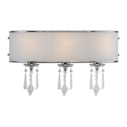Golden Lighting - Golden Lighting 8981-BA3-BRI Echelon 3 Light Bathroom Vanity Light, Chrome - Echelon BRI 3 Light Vanity in the Chrome finish