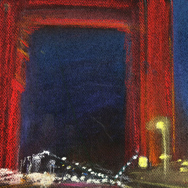 """Ann Rea - Bring home San Francisco with """"Steady Bridge"""" by Ann Rea, an original pastel - """"The Golden Gate Bridge has welcomed us in and out of San Francisco for 75 years."""""""