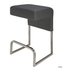 Ernie Bar Stool, Grey, Set of 2