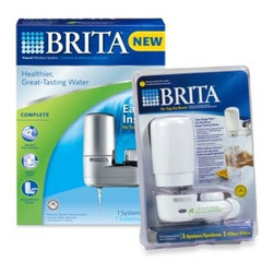 Brita - Brita On Tap Faucet Mount Filtration System - Attach the Brita filtration system to your faucet and instantly enjoy healthier, great tasting water. The two-stage filter reduces chlorine taste and odor and traps sediment, providing you with cleaner water for up to 100 gallons.