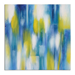 Uttermost - Morning Reflections Abstract Art - Hand Painted On Canvas Then Stretched And Attached To Wooden Stretchers. Due To The Handcrafted Nature Of This Artwork, Each Piece May Have Subtle Differences.