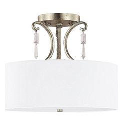 Capital Lighting - Capital Lighting Simone Transitional Semi Flush Mount Ceiling Light - Capital Lighting Simone Transitional Semi Flush Mount Ceiling Light X-RC-555-GW7644