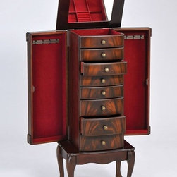 ACME Furniture - Vivan Jewelry Armoire in Cherry Finish - 97018 - Vivan Collection Armorie