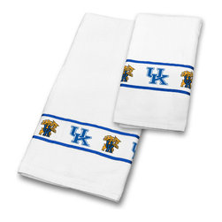 Sports Coverage - NCAA Kentucky Wildcats Towel Set College Bath Accessories - FEATURES: