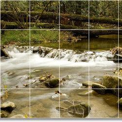 Picture-Tiles, LLC - River Photo Kitchen Tile Mural R035 - * MURAL SIZE: 24x36 inch tile mural using (24) 6x6 ceramic tiles-satin finish.