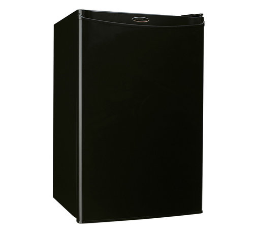 Danby - 4.3 CuFt. Refrig,Push Button Defrost,Separate Freezer Section - Danby's DCR122BSLDD Energy Star 4.3 Cu. Ft. Designer Compact Refrigerator/Freezer, in black with a spotless steel door front, is a counter-high fridge that offers additional refrigeration in a compact space. With a freezer section, 2 full and 1 half selves and tall bottle space, there is a spot for virtually anything. The easy to use features such as, CanStor beverage dispenser, mechanical thermostat, and manual push button defrost are able to store your items at the perfect temperature. Energy Star rated, this compact refrigerator/freezer provides savings while offering large capacity, compact cold storage space.Energy Star compact refrigerator/freezer with 4.3 cu.ft. total capacity|Reversible door hinge for right or left hand opening|Freezer section with 0.4 cu. ft. capacity|Manual (push button) defrost|CanStor beverage dispenser holds 8 beverage cans|2 full shelves and 1 half shelf for maximum storage versatility|Tall bottle storage|Removable egg tray fits on door shelf|Integrated door handle|Smooth back design for a flush fit against walls|  danby| dcr122bsldd| dcr122| 4.3cf| 4.3| cf| cubic| feet| cu.| ft.| cu| ft|  designer| compact| refrigerator| freezer| refrigerator/freezer| chiller| e  Package Contents: compact refrigerator/freezer|egg tray|manual|warranty  This item cannot be shipped to APO/FPO addresses