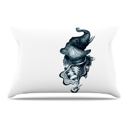 """Kess InHouse - Graham Curran """"Elephant Guitar"""" Pillow Case, King (36"""" x 20"""") - This pillowcase, is just as bunny soft as the Kess InHouse duvet. It's made of microfiber velvety fleece. This machine washable fleece pillow case is the perfect accent to any duvet. Be your Bed's Curator."""
