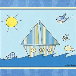 Oh How Cute Kids by Serena Bowman - Big Blue Sea - Sailing, Ready To Hang Canvas Kid's Wall Decor, 8 X 10 - Each kid is unique in his/her own way, so why shouldn't their wall decor be as well! With our extensive selection of canvas wall art for kids, from princesses to spaceships, from cowboys to traveling girls, we'll help you find that perfect piece for your special one.  Or you can fill the entire room with our imaginative art; every canvas is part of a coordinated series, an easy way to provide a complete and unified look for any room.