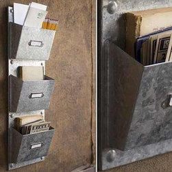 "Galvanized Wall Pocket Organizer - Now even your files and magazines can be sorted and stashed in vintage style! Our super stylish galvanized metal pocket organizer puts the ""fun"" in functional. Perfect for your home, office & classroom!"