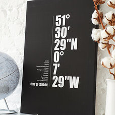 personalised city coordinates canvas by i love design | notonthehighstreet.com
