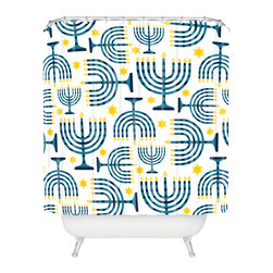 DENY Designs - DENY Designs Zoe Wodarz Holiday Lights Shower Curtain - Who says bathrooms can't be fun? To get the most bang for your buck, start with an artistic, inventive shower curtain. We've got endless options that will really make your bathroom pop. Heck, your guests may start spending a little extra time in there because of it!