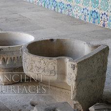 Mediterranean Bathroom Sinks by Ancient Surfaces