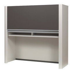 Bestar - Bestar Connexion Lateral File Hutch in Slate and Sandstone - Bestar - Hutch - 9350159 - This modern modular collection offers a great variety of options that will adapt to your specific needs.