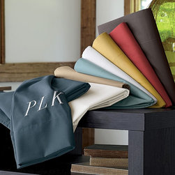 Company Cotton® Care-Free Solid Percale Sheets - What's better than percale? And these we're sure are super easy to take care of. Carefree? Yes please.