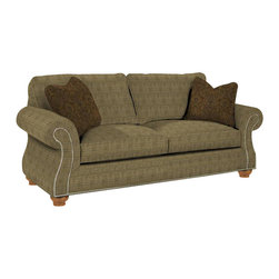 Broyhill - Broyhill Laramie Olive Queen Goodnight Sleeper Sofa with Attic Heirlooms Wood St - Broyhill - Sleeper Sofas - 50817Q1 - About This Product: