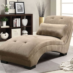 Stylish Seating - Brown Chaise