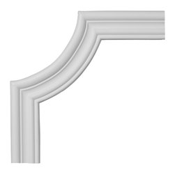 """Ekena Millwork - 11 3/4""""W x 11 3/4""""H Oxford Panel Moulding Corner - 11 3/4""""W x 11 3/4""""H Oxford Panel Moulding Corner. Our beautiful panel moulding and corners add a decorative, historic, feel to walls, ceilings, and furniture pieces. They are made from a high density urethane which gives each piece the unique details that mimic that of traditional plaster and wood designs, but at a fraction of the weight. This means a simple and easy installation for you. The best part is you can make your own shapes and sizes by simply cutting the moulding piece down to size, and then butting them up to the decorative corners. These are also commonly used for an inexpensive wainscot look."""