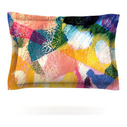 "Kess InHouse - Louise Machado ""Texture"" Pillow Sham (Cotton, 40"" x 20"") - Pairing your already chic duvet cover with playful pillow shams is the perfect way to tie your bedroom together. There are endless possibilities to feed your artistic palette with these imaginative pillow shams. It will looks so elegant you won't want ruin the masterpiece you have created when you go to bed. Not only are these pillow shams nice to look at they are also made from a high quality cotton blend. They are so soft that they will elevate your sleep up to level that is beyond Cloud 9. We always print our goods with the highest quality printing process in order to maintain the integrity of the art that you are adeptly displaying. This means that you won't have to worry about your art fading or your sham loosing it's freshness."