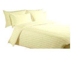 300 TC Duvet Cover Striped Yellow, Full - You are buying 1 Duvet Cover (88 x 88 inches) only.