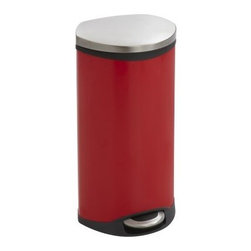 Safco 7.5 Gallon Step-On Trash Can - About Safco ProductsSafco products were specifically developed to meet the changing needs of the business world, offering real design without great expense. Each product is designed to fit the needs of individuals and the way they work, by enhancing comfort and meeting the modern needs of organization in the workplace. These products encourage work-area efficiency and ultimately, work-life efficiency: from schools and universities, to hospitals and clinics, from small offices and businesses to corporations and large institutions, airports, restaurants, and malls. Safco continues to offer new colors, new styles, and new solutions according to market trends and the ever-changing needs of business life.