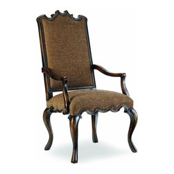 Hooker - Hooker Sanctuary Canterbury Arm Chair in Ebony (Set of 2) 200-3557 - The Canterbury Arm Chair is the perfect display of your good taste. Its beauty draws upon the rest of your decor, reflecting your style and guaranteeing a perfect match. These piecesare constructed of extra-strong engineered hardwoods with durable fabric so you know your furniture will last a lifetime.