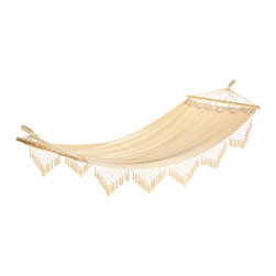 KOOLEKOO - Cape Cod Canvas Hammock - Dreaming of the seaside? Let our comfy canvas hammock take you away! Recline in comfort in your favorite shady spot; such a lovely and luxurious way to enjoy a lazy outdoor afternoon. Max. Wt.: 264 lbs.