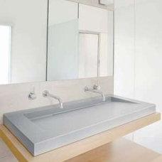 Modern Vanity Tops And Side Splashes PYROLAVE Glazed Lava Stone
