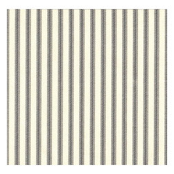 "Close to Custom Linens - 15"" King Bedskirt Tailored Brindle Gray Ticking Stripe - A traditional ticking stripe in brindle gray on a cream background."
