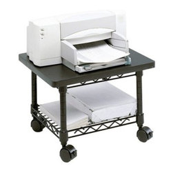 Safco 5206BL Under-Desk Printer/Fax Stand - Black - About Safco ProductsSafco products were specifically developed to meet the changing needs of the business world, offering real design without great expense. Each product is designed to fit the needs of individuals and the way they work, by enhancing comfort and meeting the modern needs of organization in the workplace. These products encourage work-area efficiency and ultimately, work-life efficiency: from schools and universities, to hospitals and clinics, from small offices and businesses to corporations and large institutions, airports, restaurants, and malls. Safco continues to offer new colors, new styles, and new solutions according to market trends and the ever-changing needs of business life.