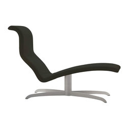 """Pre-owned Domitalia Atlantis Chaise Lounge Black - Freud's primary slip (up) was not having a seat as awesome as this Domitalia """"Atlis"""" black chaise lounge. The sexy shape and undeniable comfort of this piece would have his patients in a blissful state faster than you can say a mother--ah! another, not mother--thing. It would flatter any living room or study!     Please contact support@chairish.com if you are interested in purchasing multiple."""