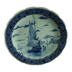 Royal Sphinx Boch - Consigned Vintage Blue Delft Transferware Plate - Product Details