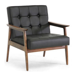 Black Midcentury Modern Club Chair