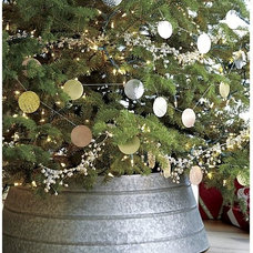 Rustic Christmas Tree Skirts by Crate&Barrel