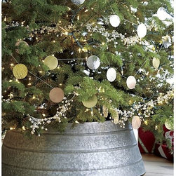 Galvanized Tree Collar - So your cats wreak havoc on your tree skirt? Try a galvanized tree collar instead.