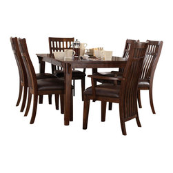 Standard Furniture - Standard Furniture Artisan Loft 7-Piece Dining Room Set in Aged Bronze - The rustic yet refined character of arts and crafts styling is portrayed in the authentic craftsman elements found in artisan loft dining.