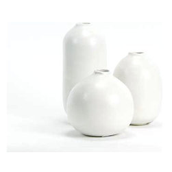 Bud Vase, Small - Small and perfect for a fireplace mantel or coffee-table centerpiece, these handmade stoneware vases are simple, yet they can add tons of style to your space.