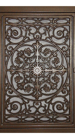 Fancy Vents, Inc. - Traditional Design, Cold Air Return Vent Cover, Old Antique Bronze - No measuring!!  Simply order by your filter size.  Fancy Vents offer a beautiful alternative to the standard industrial  HVAC covers.  Our vents are hand-made of steel and cast iron with a durable powder coated finish.   No two are exactly alike.  Fancy Vents are functional as well as beautiful.  These lovely additions to your home are installed into your current air return opening. Simply pull out your old cover and replace with a Fancy Vent. The covers open easily and make changing your filter much quicker and easier. Create a focal point in any room with the graceful and timeless styling of our Fancy Vents.
