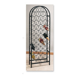 Old Dutch - Matte Black 47-bottle Wine Rack - Wine rack in durable steel for the kitchen and dining roomsStore and display 47 bottles of your finest wine vintageGraceful,classic styling of this kitchen storage rack enhances any decor