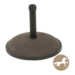 Christopher Knight Home - Christopher Knight Home Brown Umbrella Base - The Christopher Knight Home umbrella base ensures that your umbrella will remain securely intact with style and practicality. Built out of solid steel and concrete, the 33 pound base can accommodate an umbrella as large as 9 feet.