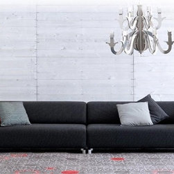 Dirbin Modular Sectional - Clean lined styling, two distinct pieces and soft fabric upholstery make this Dirbin Modular Sectional a wonderful center piece to your home decor.