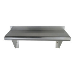 "Whitehaus Collection - Whitehaus CUWS1024 24"" Culinary Equipment pre-assembled stainless steel she - Pre-assembled stainless steel shelf with a bull nose edge"