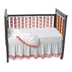 Go Mama Go Designs - Go Mama Go Designs Pink Damask Wonder Bumpers Baby Crib Bedding - The lovely pink damask pattern of these slat bumpers and crib bedding is a sweet addition to any nursery. Features an award-winning design that increases air flow to help reduce the risk of SIDS.
