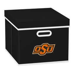 MyOwnersBox - MyOwnersBox Closet Organization College STACKITS Oklahoma State University 12 - Shop for Storage & Organization at The Home Depot. The MyOwnersBox 10 in. x 12 in. x 15 in. Oklahoma State University COLLEGE STACKITS Stackable Black Fabric Storage Cube has an attractive team embroided logo that looks great in your storage area. Made of sturdy non-woven polypropylene and reinforced with composite wood this storage cube has a collapsible design and folds out to form a perfect bankers box size that fits letter and legal sized folders and hanging files. Great for adding team spirit to your office or home office as well as tight spaces in your closet or college dorm room. The storage cube is also ideal for storing clothing or small toys in your children's room or laundry room. The lid is reinforced to allow stacking of 3 or more storage cubes and each comes with two reinforced plastic handles for easy mobility. Color: Black.