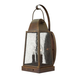 Hinkley Lighting - Hinkley Lighting 1775SN Sedgewick Transitional Outdoor Wall Sconce - Sedgwicks all brass construction symbolizes the best of vintage Hinkley quality and style. This traditional tapered rectangular lantern features a charming hinged door with sliding latch for authentic appeal. The classic Sienna finish combines beautifully