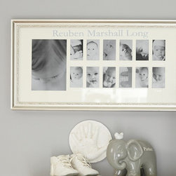 Silver Leaf First Year Frame - This is a must-have for every nursery. Track baby's growth via a frame with spaces for the first 12 months. It makes a great keepsake, too.