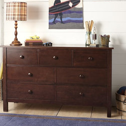 Kendall Extra-Wide Dresser - Smooth flat wood is crafted into neatly fitted panels and drawers to give our Kendall Extra-Wide Dresser the disarmingly simple appeal of Craftsman-style furniture.