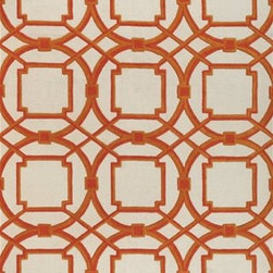 Global Views - Global Views 9.91359 Arabesque Coral Modern/ Contemporary Hand Tufted Rug - Rugs are made from 100% wool pile with 100% cotton backing, hand-tufted, hand-dyed in custom colors to work in today's interiors.