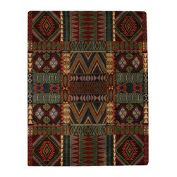 Capel - Southwestern/Lodge Big Horn 7'x9' Rectangle Multi Color Area Rug - The Big Horn area rug Collection offers an affordable assortment of Southwestern/Lodge stylings. Big Horn features a blend of natural Multi Color color. Hand Tufted of 100% Wool the Big Horn Collection is an intriguing compliment to any decor.
