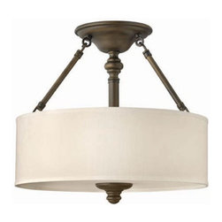 Hinkley Lighting 4791EZ Semi Flush 3 Light Foyer Sussex Collection -