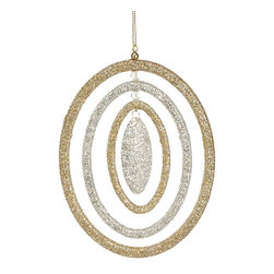 Silk Plants Direct - Silk Plants Direct Glitter Oval Ring Ornament (Pack of 24) - Silver Tiffany - Pack of 24. Silk Plants Direct specializes in manufacturing, design and supply of the most life-like, premium quality artificial plants, trees, flowers, arrangements, topiaries and containers for home, office and commercial use. Our Glitter Oval Ring Ornament includes the following: